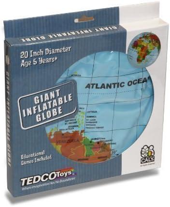 Giant Inflatable Earth Globe 20-Inch Diameter Tedco SG/_B0050EJWK0/_US