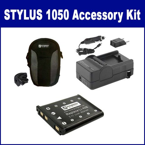 Olympus Stylus 1050 SW Digital Camera Accessory Kit includes: SDLI40B Battery, SDM-141 Charger, SDC-21 - Sw Olympus 1050 Stylus