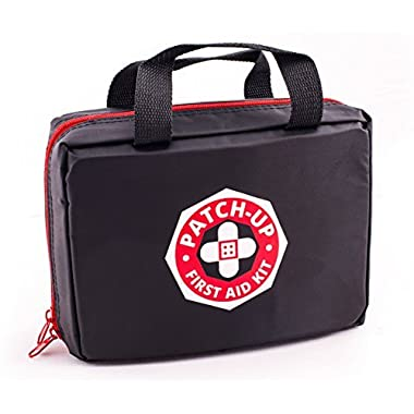 Patch-Up First Aid Kit (270 Pieces-39 Unique Items) for Family Emergency & Survival. Water & Stain Resistant Nylon Bag Ideal for Home Car Boat Kayak RV Sports Camping Hiking. Protect Your Loved Ones!