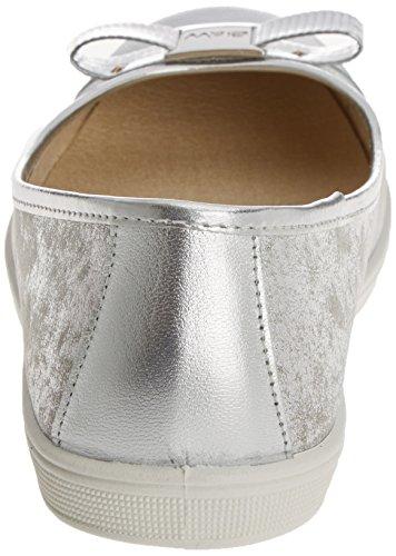 Break & Walk Damen Hv221003 Ballerinas mit Geschlossener Spitze Silber