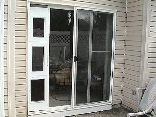 Wood Screen Doors With Removable Screens : Wedgit portable pet portal door panel with removable