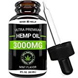 Hemp Oil Drops 3000 MG - Ultra Premium Formula - All Natural Anxiety,Made