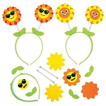 Sonnenblumen Kopfschmuck Fur Kinder Zum Basteln Und Als Accessoire