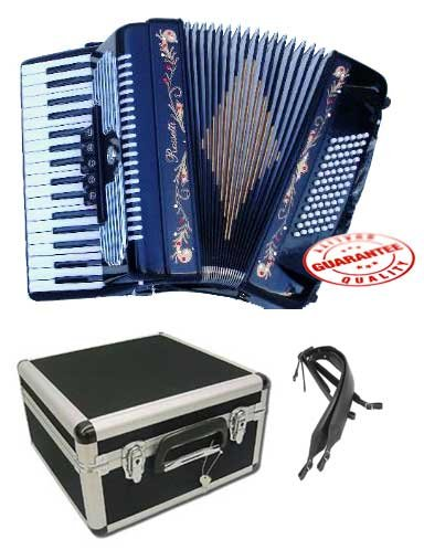 Rossetti Piano Accordion 72 Bass 34 Keys 5 Switches Tiger Stripes