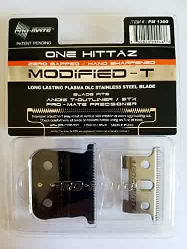 Andis T-Outliner & GTX Replacement One Hittaz Zero Gap Modified T Blades (Extra Thin & Sharp) By Pro-Mate