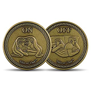This or That Original Couples Therapy Coin | Flip to see if it's On or Off – Gift for Valentine's & More