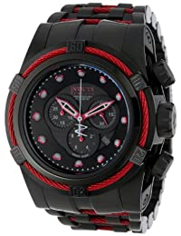 Invicta Men's 14060 Bolt Reserve Chronograph Black Dial Black Ion-Plated Stainless Steel Watch