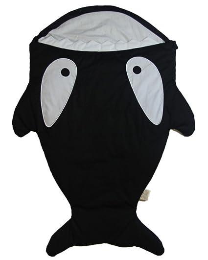 Saco para recien nacido pececito negro orca