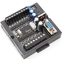 Icstation 32 Bit FX1N-14MT Mini Programmable Logic Controller PLC Board 8 Input 6 Output with Din Rail Base