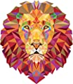 Geometric Lion Animal Sticker Decal Design 5'' X 5''