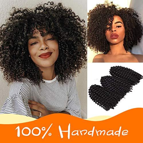 Premium 3 Bundles/pack Marlybob Kinky Curl Crochet Hair 8 Crochet Braids Synthetic Braiding Hair Extensions For Women (2#)