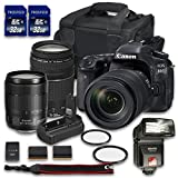 Canon EOS 80D DSLR Camera Bundle with Canon EF-S 18-135mm f/3.5-5.6 IS USM Lens + Canon EF 75-300mm f/4-5.6 III Lens + 2 PC 32 GB Memory Card + Camera Case + Flash + Power Grip