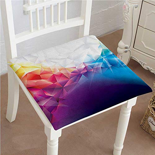 Mikihome Memory Foam Chair Pads Design Rainbow Like Triangle with Bright Lines Details Cushion Perfect Indoor/Outdoor 32