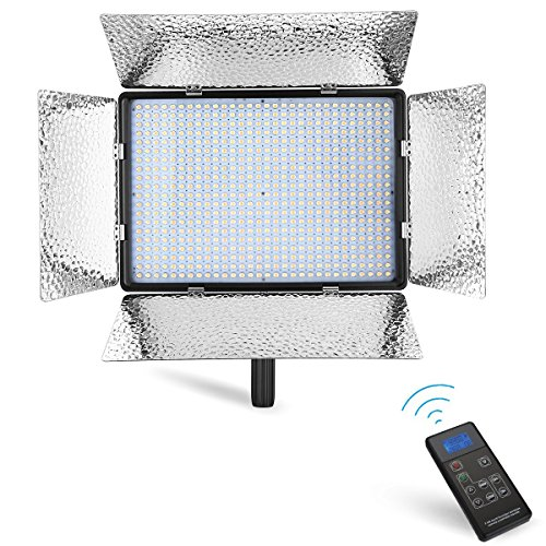 Powerextra 600 Beads Bi-Color 60W Dimmable LED Video Light Panel Adjustable Color Temperature 3200K-5600K, 2.4G Wireless Remote Control, CRI 96+ for Studio, Youtube, Photography, Video Shooting by Powerextra