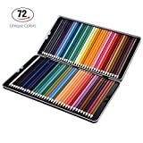 #8: 72 Colored Pencils Set, Atmoko Watercolor Art Coloring Pencils Bulk with Pencil Case for Coloring Books, Pre-sharpened for Children and Adults, Assorted Colors