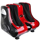 Shiatsu Kneading Rolling Vibration Heating Foot & Calf Massager Personal Health Studio Leg Beautician red