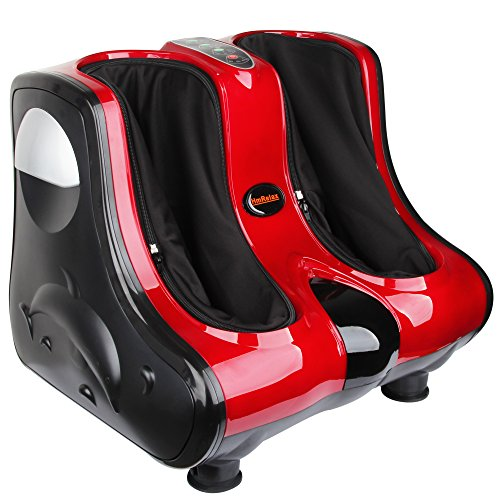 Shiatsu-Kneading-Rolling-Vibration-Heating-Foot-Calf-Massager-Personal-Health-Studio-Leg-Beautician-red
