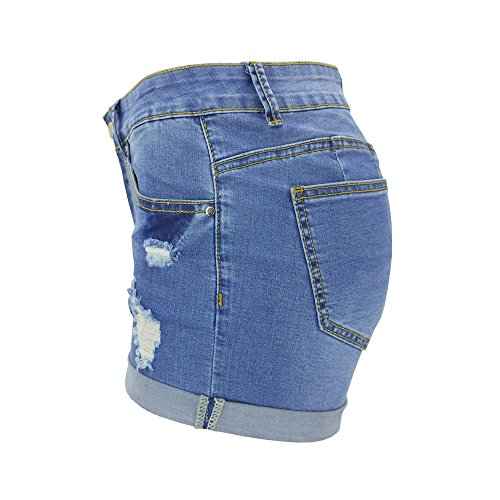 Corto Shorts Bassa Chic Moda Hot Pantaloncini Monika Strappati Estivo Azzurro Vita Denim Pantaloni Skinny a Donna Jeans Pants y1qwOwYz
