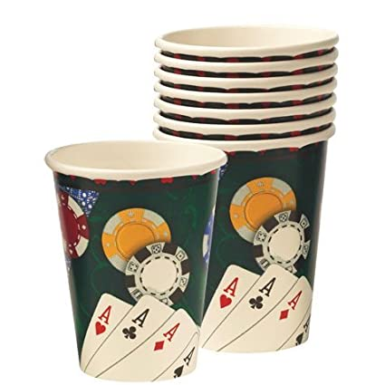 Amazon.com: Poker vasos de papel 8 ct por Fiesta América ...