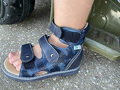 حذاء طبي للأطفال للأولاد والبنات تويكي صندل جلد طبيعي عالي الظهر مع دعم قوس القدم نعل قابل للانزلاق وكعب توماس 21 Eu Amazon Ae