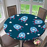 kitchen 67 catering Round Polyester Tablecloth Table Cover Blue boyish Wallpaper for Most Home Decor 67