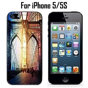 Antique Brooklyn Bridge Custom Case/ Cover/Skin *NEW* Case for Apple iPhone 5/5S - Black - Plastic Case (Ships from CA) Custom Protective Case , Design Case-ATT Verizon T-mobile Sprint ,Friendly Packaging - Slim Case