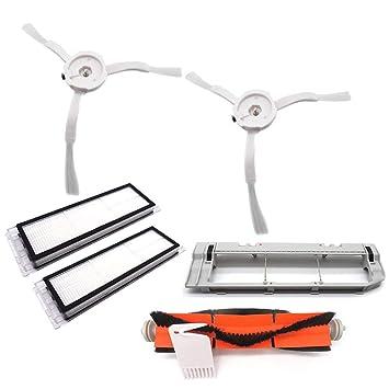 Henreal Kit de Filtro de Lavado para el hogar Limpiador de Repuesto Accesorios para el Robot Aspirador Xiaomi Mi Robot: Amazon.es: Hogar