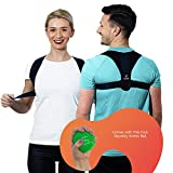 Posture Corrector by Best Body Support – Adjustable Back Brace for Men, Women, Teens – Comfortable Clavicle & Upper Back Support Device for Rounded Shoulders, Kyphosis, Spine Alignment, Pain Relief