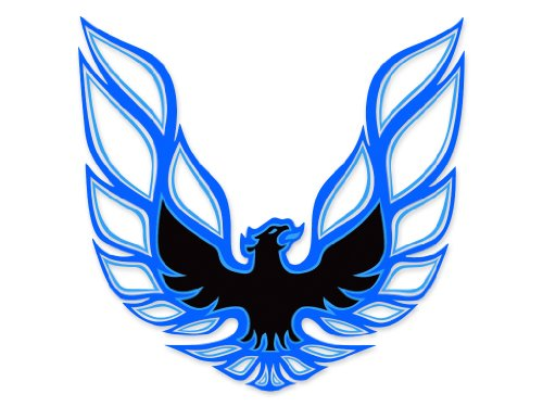 Firebird Hood Panel - 1973 1974 1975 1976 1977 1978 Pontiac Firebird Trans Am Sail Panel Bird Decals - BLUE