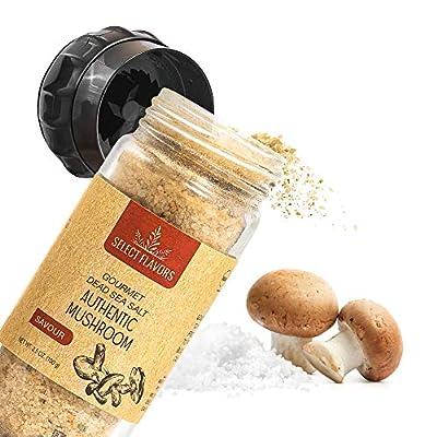 Select Flavors Exotic Gourmet Porcini Mushroom Powder Seasoning 3.5 oz Grinder Top