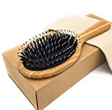 Hair Brush THREEOFLIFE Boar Bristle Hair Brush for Women Men Natural Wooden Bamboo Handle Hairbrush for Styling Straightening Detangling Thick Thin Fine Curly Wavy Dry Long Short Hair For Sale