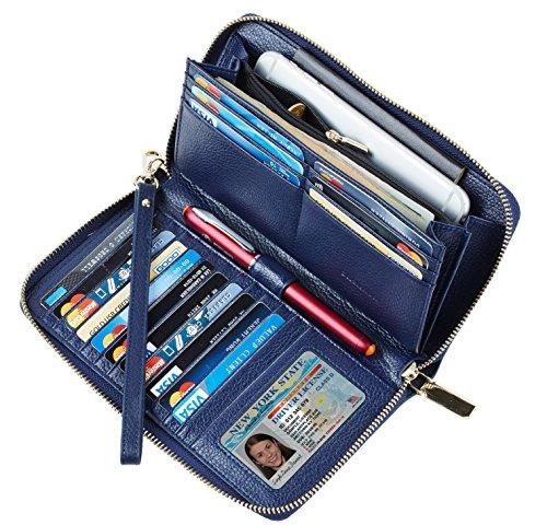 Clutch Wallet Zip Bag Card Holder (Blue) - 1