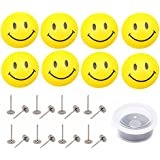 Hongxin Bed Duvet Donuts Quilt Cover Plastic Fixing Clips Fasteners Bedroom Bedding Quilts Fixing Holder Gripper,Non-Slip Quilt Cover Anti-Move Buckle Fixer Clip,8pcs/Set,Smile/Panda Styles (Smile)