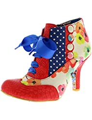 Womens Irregular Choice Blair Elfglow Floral Court Shoes Mid Heels