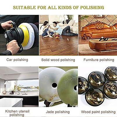 KingBra 5Pcs Car Polisher Pad Bonnet (9 to 10 Inches), Soft Microfiber Polishing Bonnet Buffing Pad Cover, Car Waxing Bonnet Waxer Pads for Car Polisher: Automotive