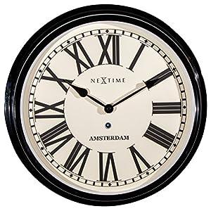 Nextime Amsterdam - Reloj de Pared (Redondo, 40,4 cm), diseño Retro 13
