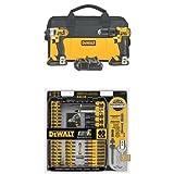 DEWALT DCK280C2 20-Volt Max Li-Ion 1.5 Ah Compact Drill and Impact Driver Combo Kit w/ DWA2T40IR IMPACT READY FlexTorq Screw Driving Set, 40-Piece