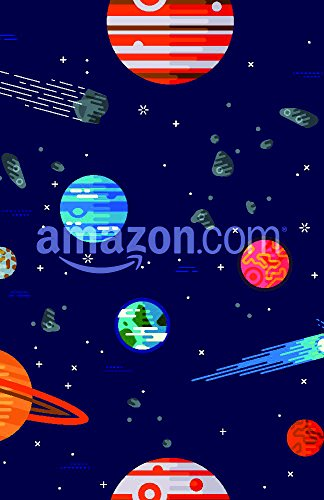Cool galaxy planets and stars space vector flat seamless pattern with Earth, Moon, Venus, Mars, Jupiter, Saturn and more. Ideal for wrapping paper, website background, wallpaper, fabric design Poster Print, 11
