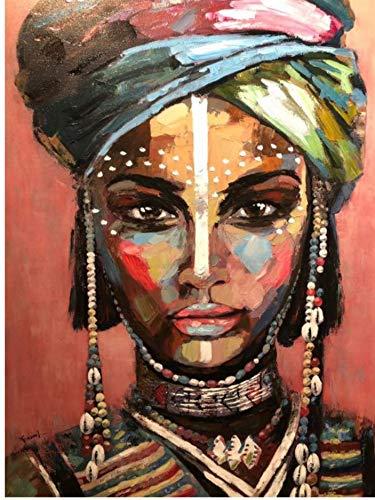 ELAFI - Poster DIN A3, decoracion para Comedor u Oficina, Arte, Estilo Africano, Retrato de Mujer