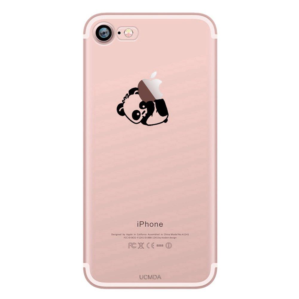 coque iphone 7 transparente avec petits motif