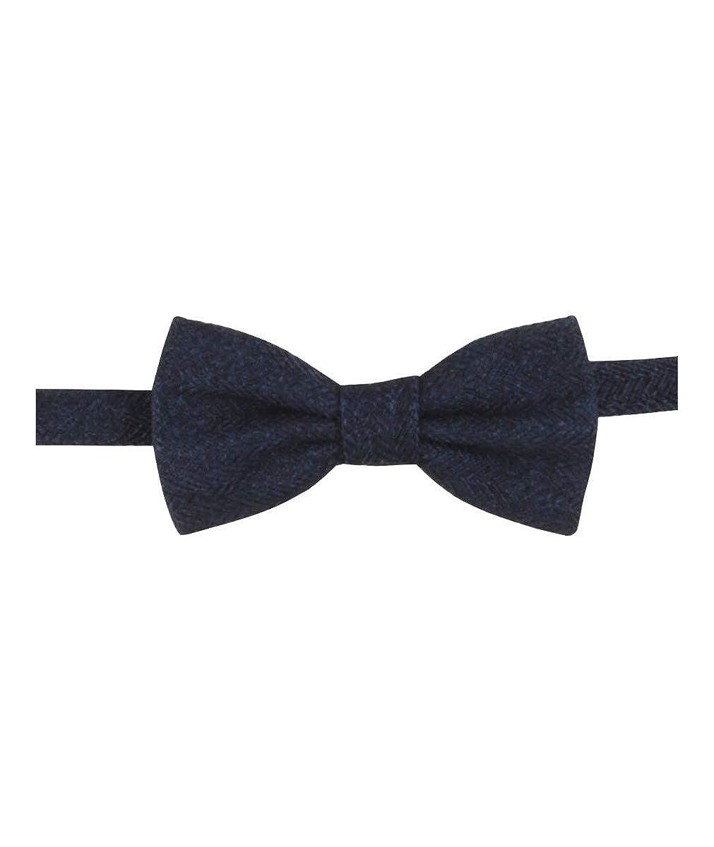 per matrimonio colore nero SIRRI Set composto da papillon e fazzoletto in tweed a spina di pesce