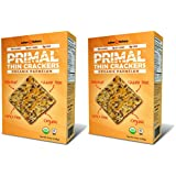 Organic Primal Thin Crackers (2 Pack) (Low Carb, Gluten Free, Grain Free) (Organic Parmesan)