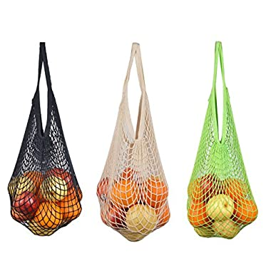 NO.2 BAG ECO Mesh Bags Reinforced Reusable Grocery Bags Reusable Shopping bags beach bags canvans Tote bags black/green/white