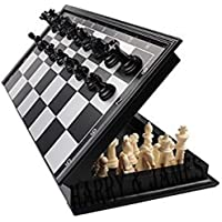 Harry & James™ Magnetic Educational Toys Travel Chess Set with Folding Board for Kids and Adults, Black (10 Inch).