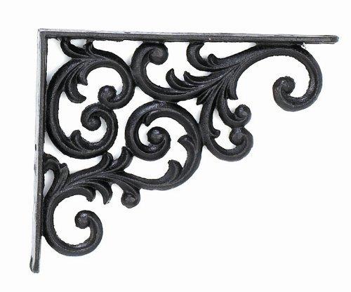 Upper Deck Bracket Shelf, 9.375-Inch Deep, Rustic Antique Finish -