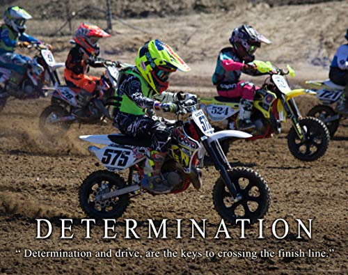 Apple Creek Motocross Racing Determination Motivational Poster Art Print 11x14 Motorcycle Helmets Jackets Sturgis Rally Wall Decor Pictures