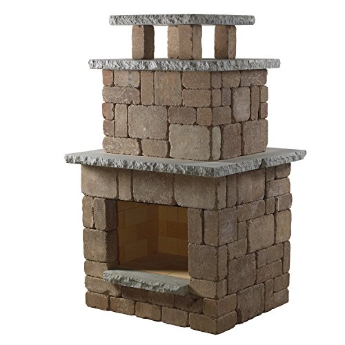 photo in mediterranean deck masonry pre fireplace kits engineered outdoor kit arched