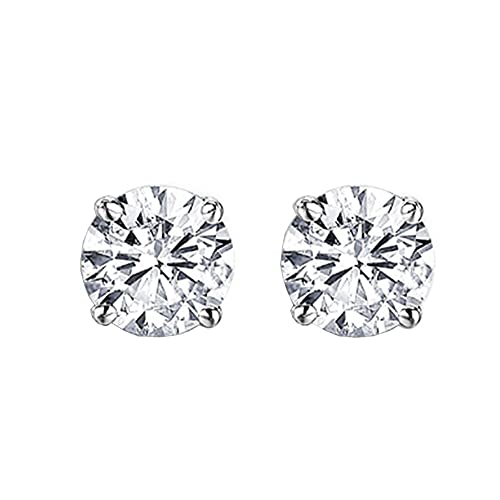 Dazzlingrock Collection IGI CERTIFIED 0.75 Carat ctw 14K Round Diamond Ladies Solitaire Stud Earrings 3 4 CT, White Gold