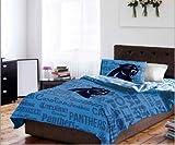 Carolina Panthers NFL Full Comforter & Sheets (5 Piece Bedding)
