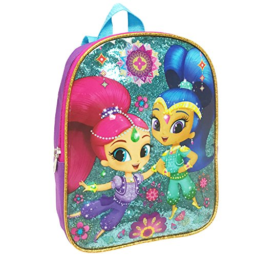 Glittery Shimmer - Nickelodeon Girls' Shimmer and Shine 10 Inch Mini Children's Backpack, Purple, One Size